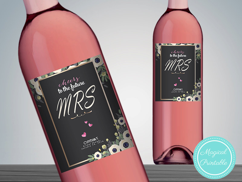 image about Printable Wine Labels identified as Personalized Classy Wine Bottle Labels