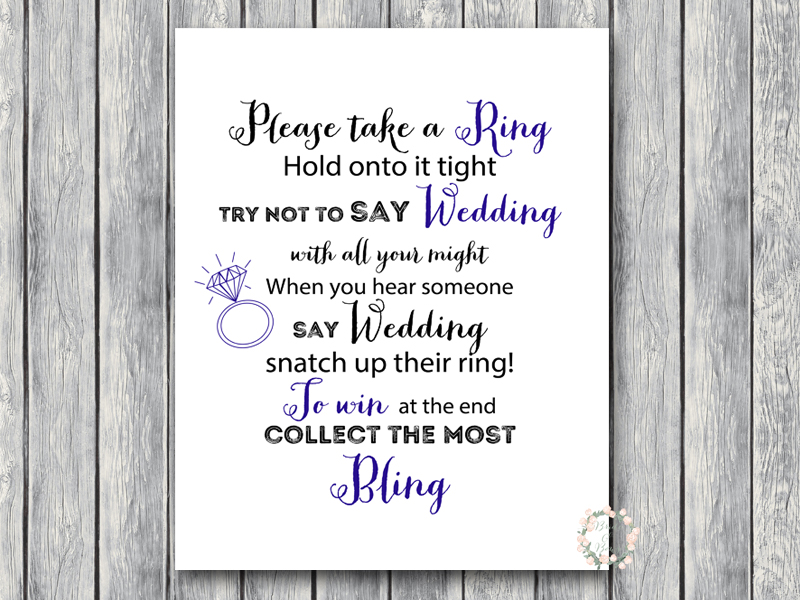 tg07 dont say wedding 8x10 navy blue bridal
