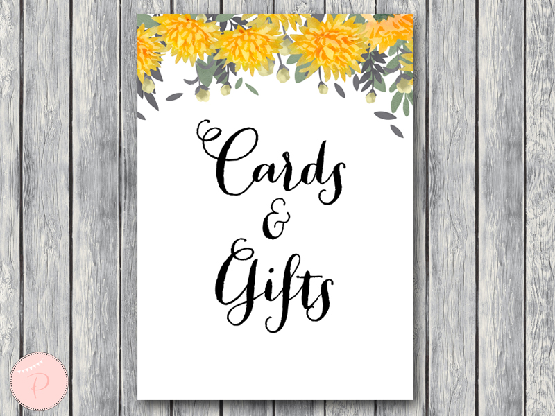 Download Dandelion Yellow Wedding Decoration Signs Bride
