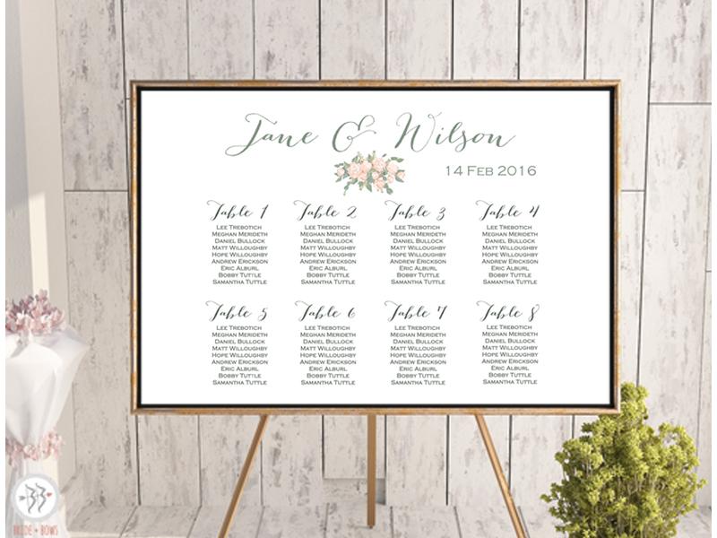 Wedding Seating Chart Printable 89td