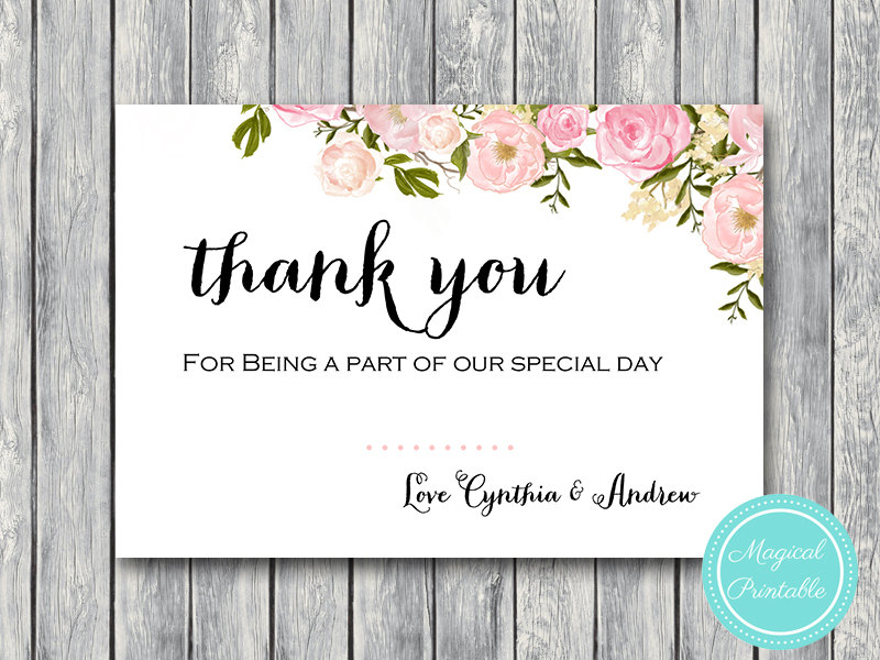 Elegant Peonies Wedding Thank You Cards