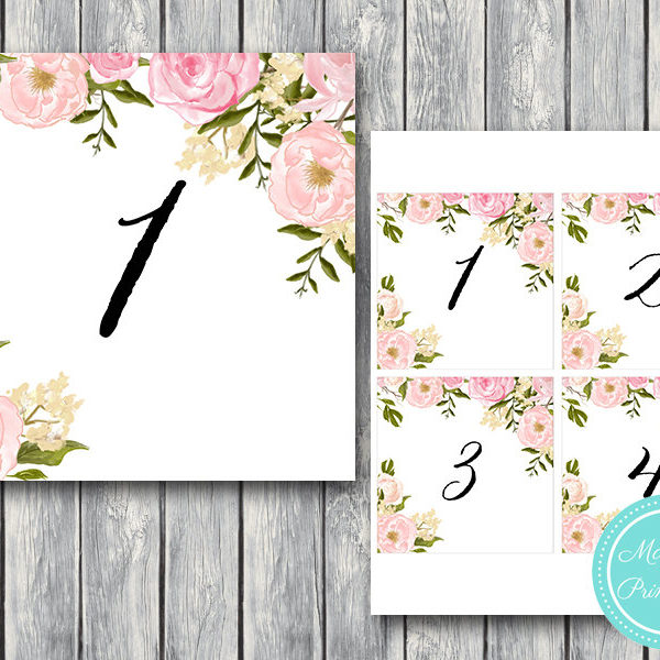 It is a photo of Printable Wedding Table Numbers intended for table number chic hand lettered number gold table 4 table number