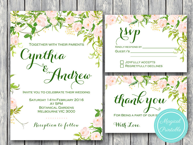 graphic regarding Printable Wedding Card identify Tailor made Crimson Floral Marriage ceremony Invitation RSVP Due Card