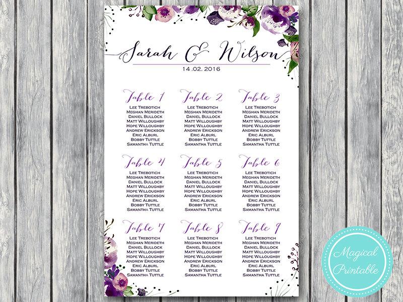 wedding charts