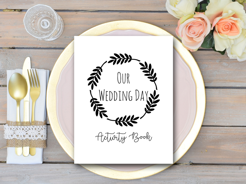 Wedding Kids Activity Book and Coloring, Wedding Kids Table Activities