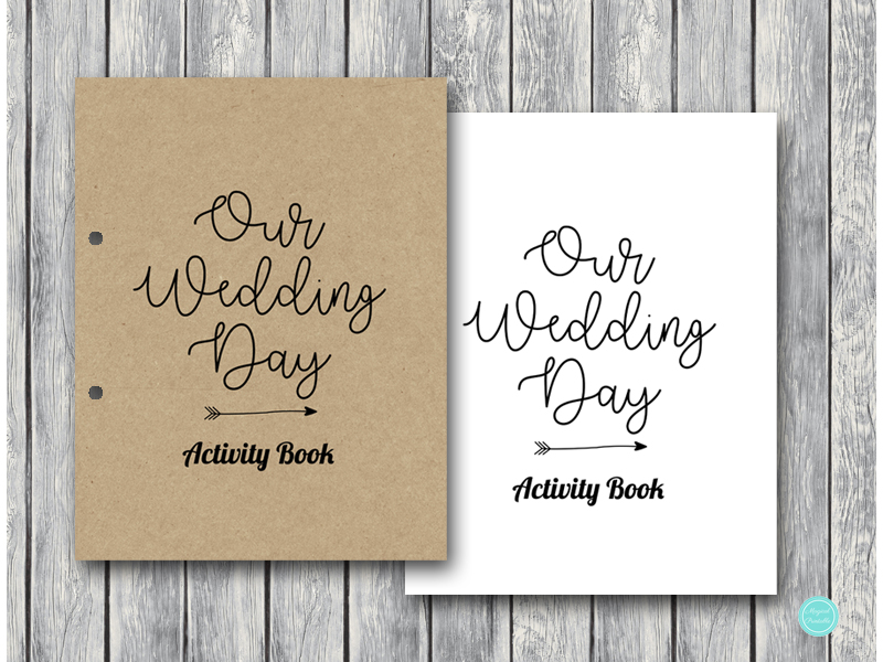 - Wedding Kids Activity Book And Coloring, Wedding Kids Table Activities