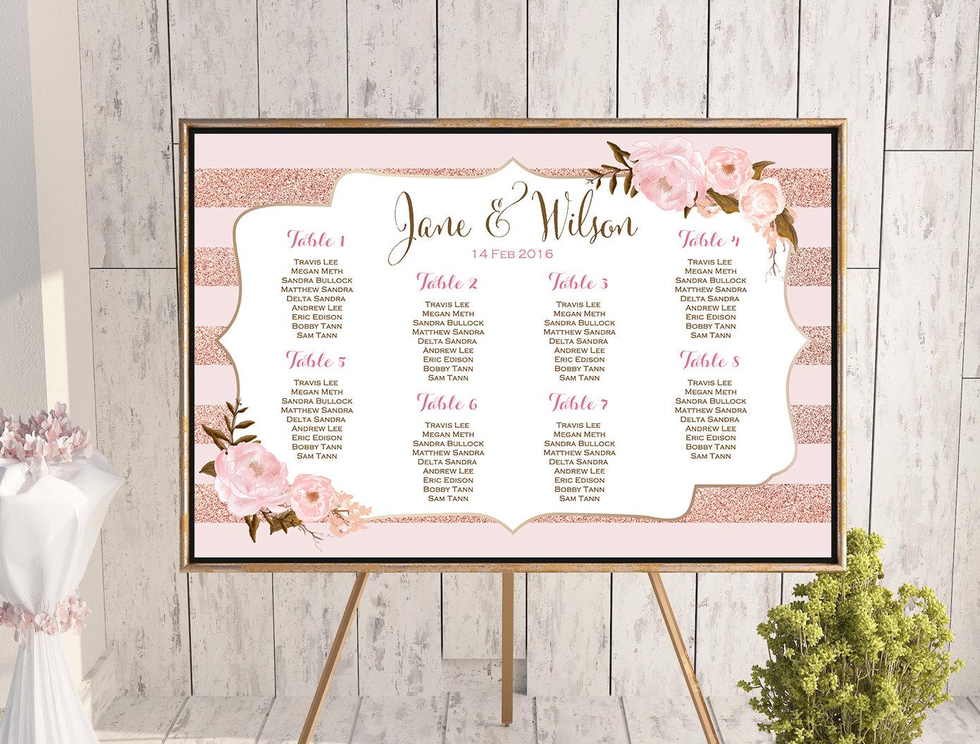 custom wedding seating chart free wedding seating charts
