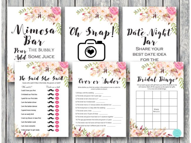 graphic regarding Bridal Shower Games Printable named Boho Wedding ceremony Shower Video games Things to do