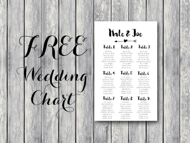 photo relating to Free Printable Wedding Seating Chart known as Absolutely free Arrow Marriage ceremony Seating Chart Template - Bride + Bows