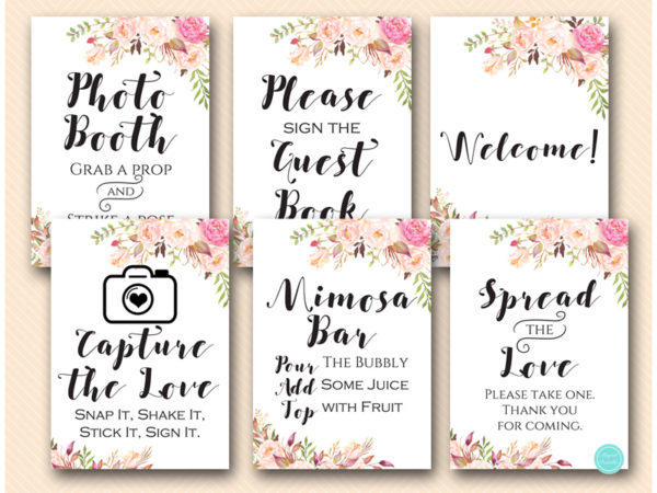 Boho Decoration Signs Snap It Shake It Capture Love Photobooth