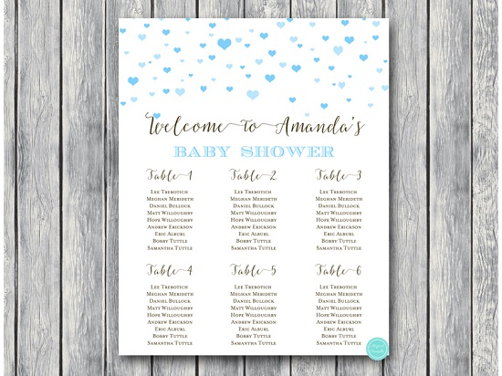 Sn595 Hearts Baby Shower Seating Chart For Blue Download 5