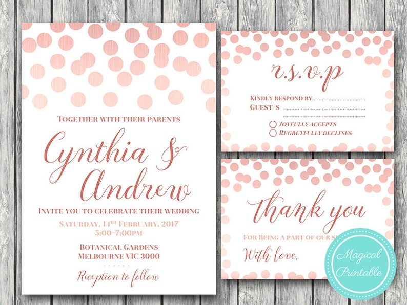Elegant Wedding Invitation Rsvp Engagement Party Invite