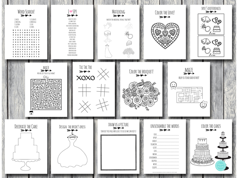 - DOWNLOAD Wedding Kids Activity Book And Coloring - Bride + Bows