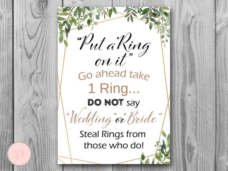 Bridal shower game ring | Etsy
