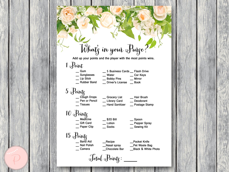 photograph regarding Bridal Shower Purse Game Printable called Obtain Wedding ceremony Shower Bridal Shower Activity Pack