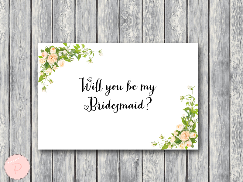 graphic relating to Will You Be My Bridesmaid Printable identify Down load Will oneself be my Bridesmaid Playing cards