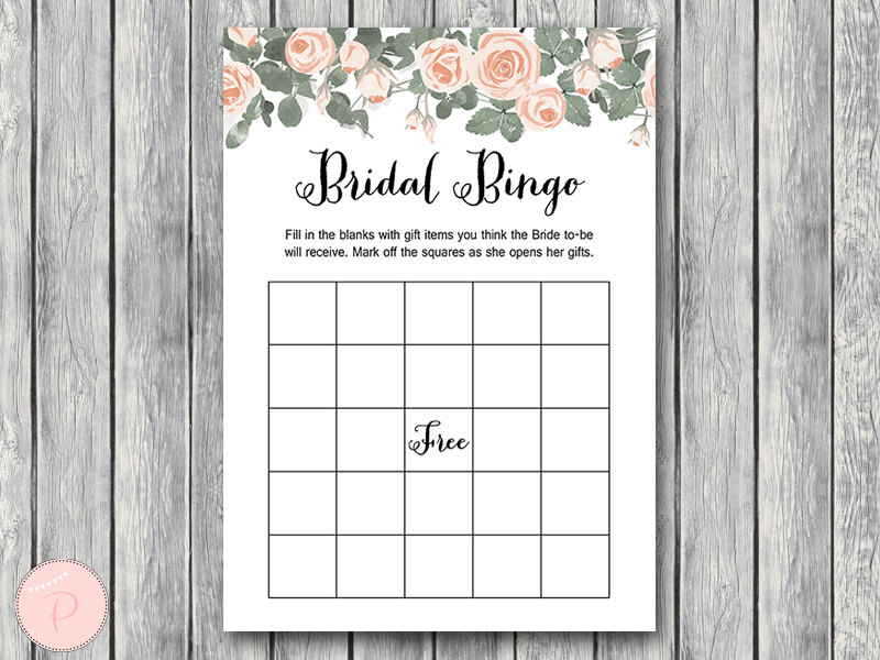 photo relating to Bridal Bingo Printable referred to as Down load Crimson Floral Bridal Shower Sport Offer