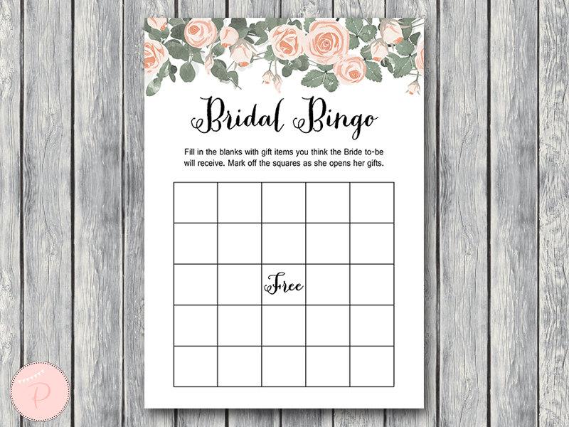 Pink Floral Bridal Shower Game Printable - Bride & Bows