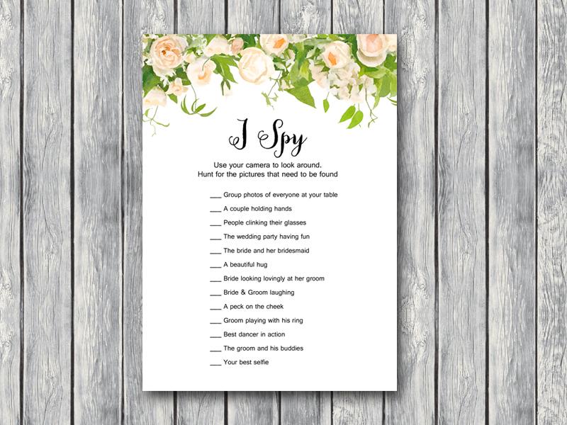 Download i spy wedding scavenger game bride bows th01 5x7 wedding scavenger hunt i spy floral maxwellsz