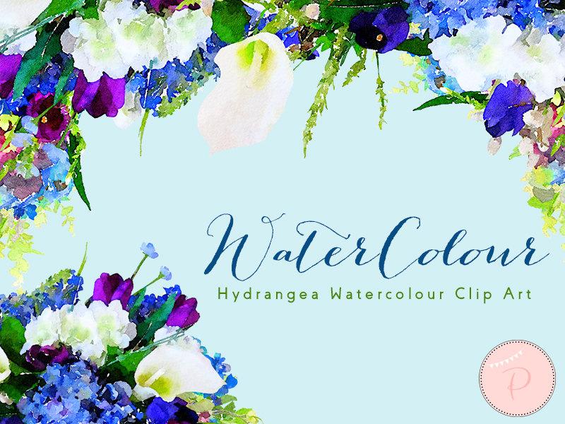 Blue Hydrangea wca13 - Bride + Bows