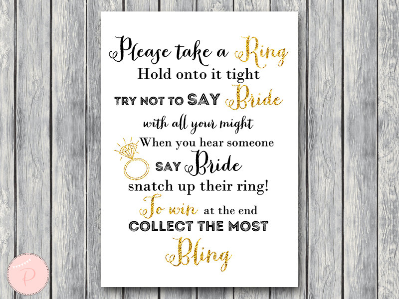 th14 dont say bride gold bridal shower game