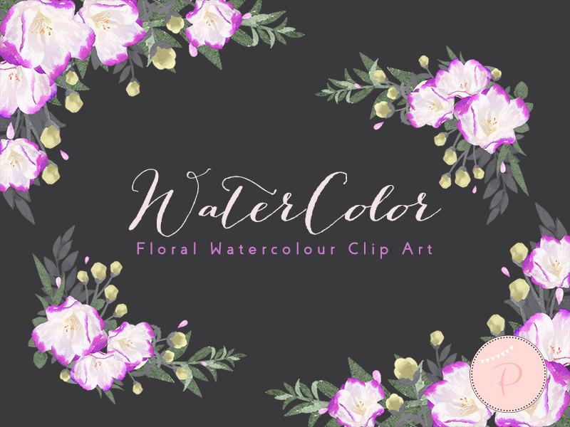 WCA95 Purple Rustic Flower Clipart