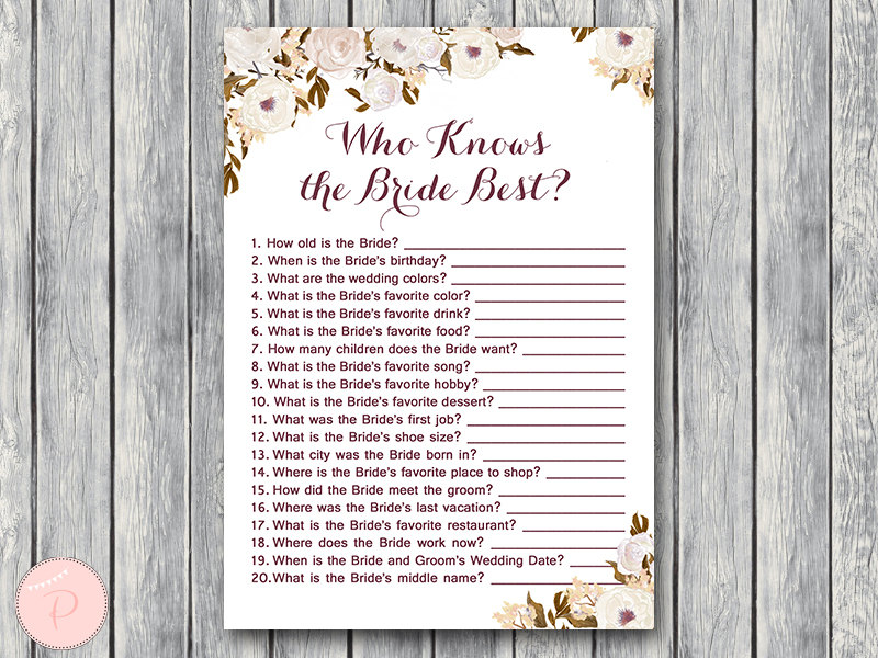 how well do you know the bride and groom pdf